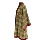 Kimono en laine tartan et cachemire