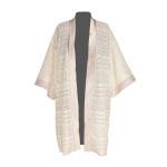 Kimono en guipure de Calais et soie