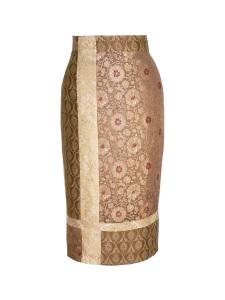 Jupe crayon en brocart de soie indienne - APRES