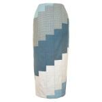 Jupe crayon en patchwork de laine