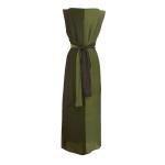 Robe portefeuille bicolore en crêpe de soie indienne