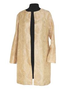 Manteau léger en jacquard de soie indienne