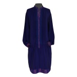 Robe chemise en crêpe de soie indienne