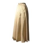 Jupe portefeuille en brocart de soie léger