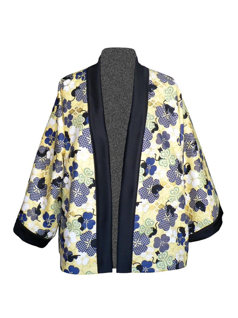 Kimono court en coton japonais et jean