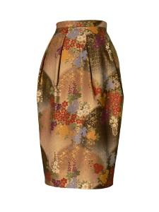 Jupe tulipe en coton japonais imprimé