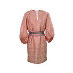 Robe tunique d'inspiration seventies en jacquard de soie indienne