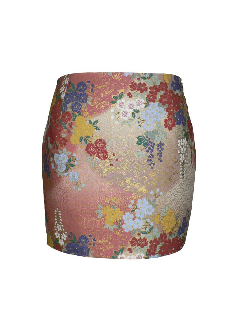 Mini-jupe en coton japonais imprimé