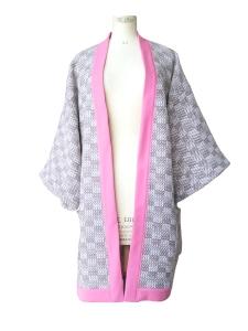 Kimono long en laine à poches plaquées