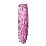 Jupe portefeuille en coton imprimé fleurs de pavot et rayures