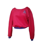 Sweat court en velours de laine et angora