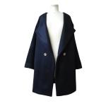 Manteau œuf d'inspiration rétro en velours de laine et cachemire