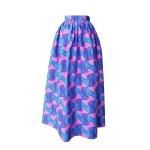 Robe dos nu transformable en wax géométrique rose et bleu