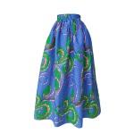 Robe dos nu transformable en wax bleu et vert