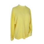 Pull à manches chauve-souris en jersey de viscose côtelé jaune citron