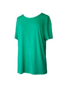 Tee-shirt coupe masculine en jersey de viscose vert gazon