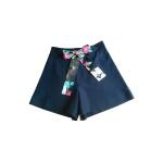 Short taille haute en jersey de viscose noir et coton japonais