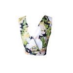 Crop top en coton imprimé fleuri