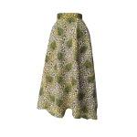 Jupe foulard revisitée en wax imprimé écailles