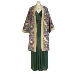 Idée look - Robe portefeuille bicolore en mousseline de soie indienne