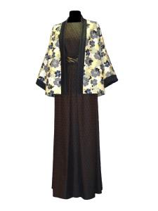 Idée look - Kimono court en coton japonais et jean