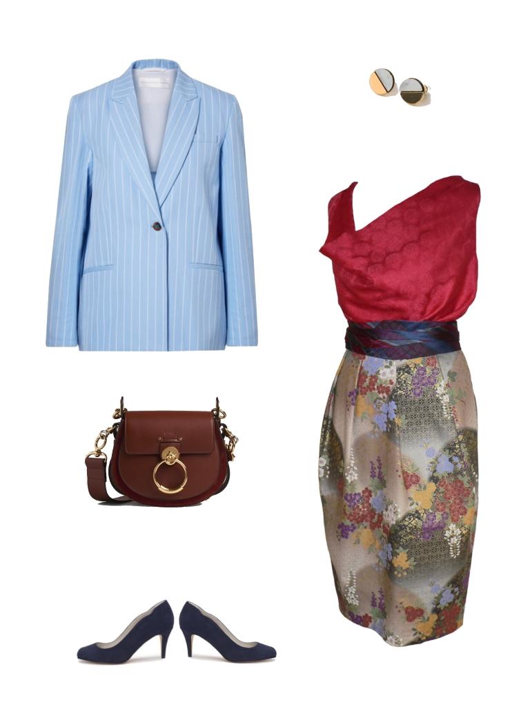 Idée look - Jupe tulipe en coton japonais imprimé