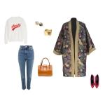 Idée look - Kimono en coton japonais et laine