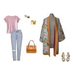 Idée look - Kimono long en coton japonais vintage et laine