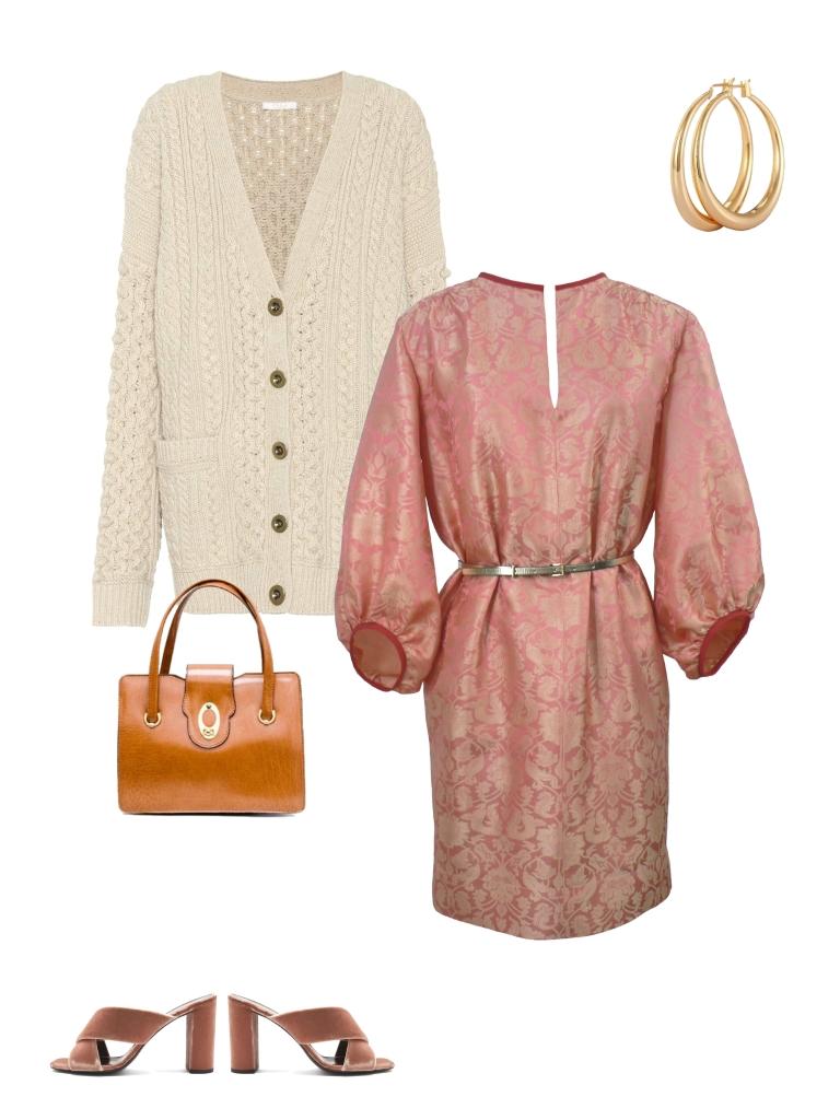 Idée look - Robe tunique d'inspiration seventies en jacquard de soie indienne
