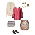 Idée look - Mini-jupe en coton japonais imprimé