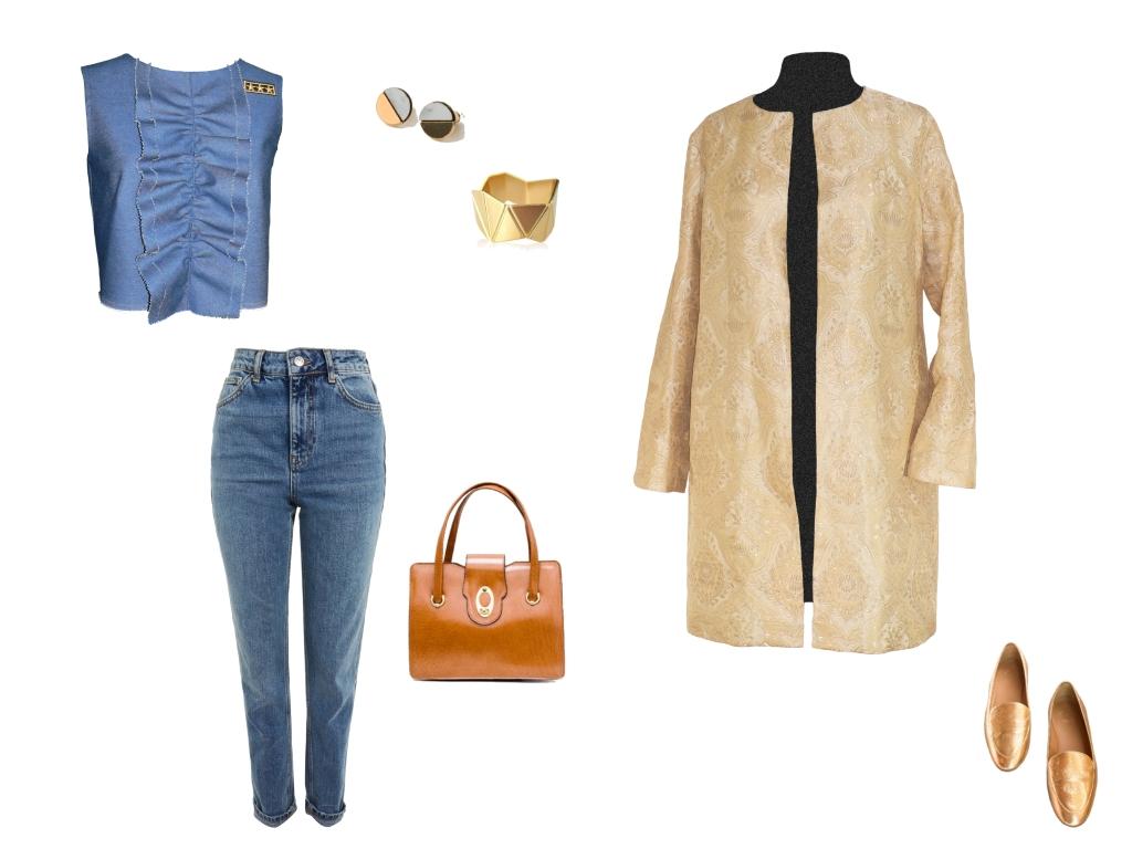 Idée look - Manteau léger en jacquard de soie indienne
