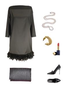 Idée look - Robe du soir en satin et plumes