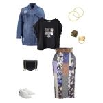 Idée look - Jupe portefeuille en patchwork de coton japonais et soie