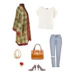 Idée look - Kimono en laine tartan et cachemire