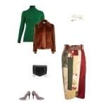 Idée look - Jupe portefeuille en patchwork de soie et velours de laine