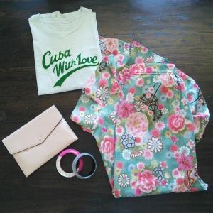 Idée look - Jupe portefeuille asymétrique en coton japonais vert d'eau