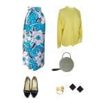 Idée look - Jupe portefeuille en wax turquoise imprimé maxi fleurs