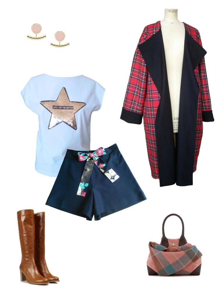 Idée look - Short taille haute en jersey de viscose noir et coton japonais