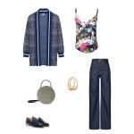 Idée look - Caraco en coton japonais imprimé grues et mont Fuji