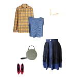Idée look - Jupe plissée en satin de coton et matière de récupération
