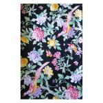 Coton léger imprimé fleurs et oiseaux exotiques